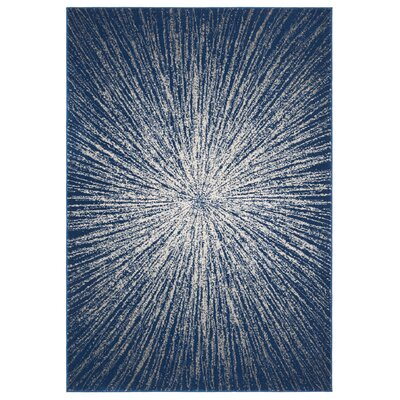 Hannan Navy/Ivory Area Rug Rug Size: Rectangle 51 x 76