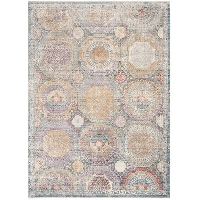 Soren Blue/Beige Area Rug Rug Size: Rectangle 5 X 8