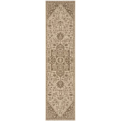 Burnell Beige/Cream Area Rug Rug Size: Rectangle 2 X 8