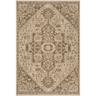 Burnell Beige/Cream Area Rug Rug Size: Square 67