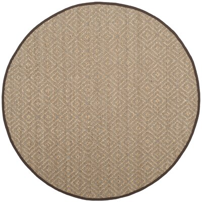Raiden Natural/Brown Area Rug Rug Size: Round 6