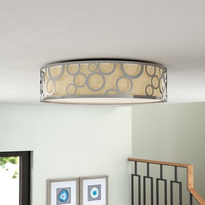 Sergent 1-Light LED Flush Mount Finish: Polished Nickel