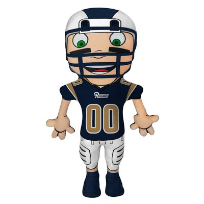 NFL Cloud Pal Character Throw Pillow NFL Team: Los Angeles Rams