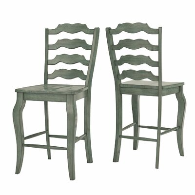 Sinoway French 24.21 Bar Stool Color: Antique Sage