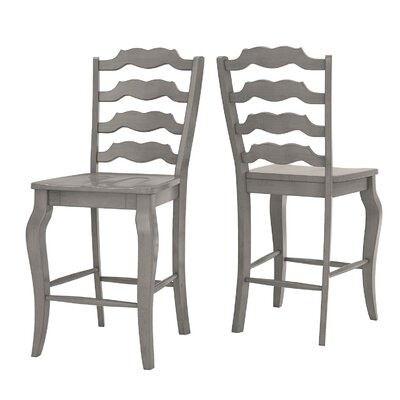 Sinoway French 24.21 Bar Stool Color: Grey