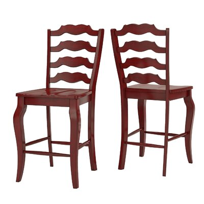 Sinoway French 24.21 Bar Stool Color: Berry