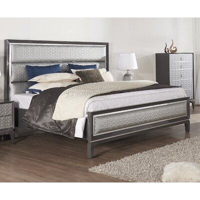 Amelio Panel Bed Color: Gray, Size: King