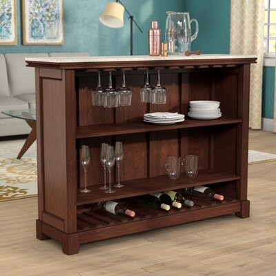 Covington Counter Bar with Wine Storage Size: 42 H x 56 W x 18 D