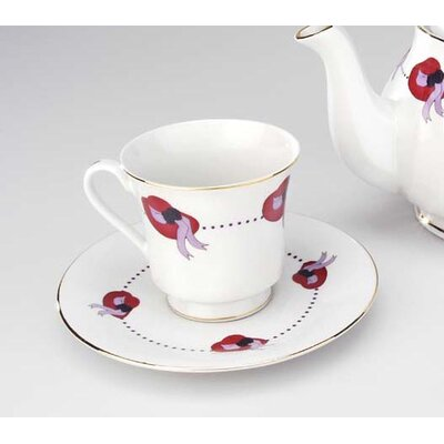 Keane Red Hat 12 Piece Tea Cup and Saucer Set (Set of 6) 5A67C7C7619A482B96033452318AD9E8