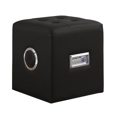 Ott Modern Bluetooth Speaker Sound Lounge Cube Ottoman Upholstery: Black
