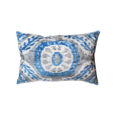 Ikat Lumbar Pillow Pillow Cover Color: Blue