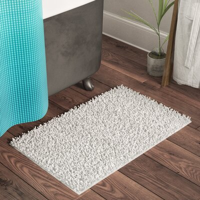 Beckett Taylor Twistly Bath Rug Color: White