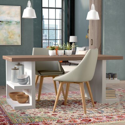 Durkee Dining Table Finish: Walnut / White