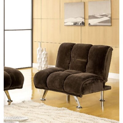 Littlefield Futon Chair Upholstery: Dark Brown