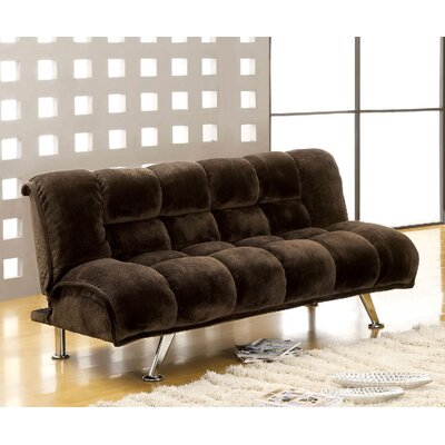 Littlefield Convertible Sofa Upholstery: Dark Brown