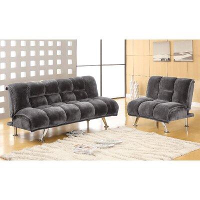 Littlefield 2 Piece Living Room Set Upholstery: Gray