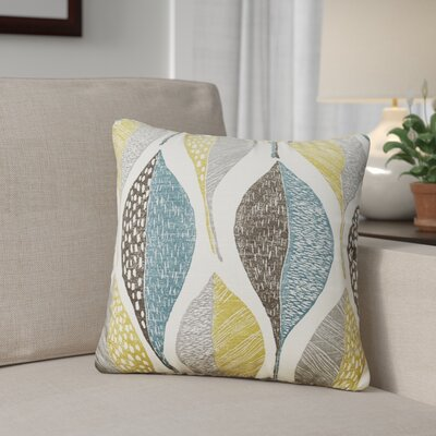 Hilldale Leaf Rain 100% Cotton Throw Pillow Size: 18 H x 18 W x 5 D