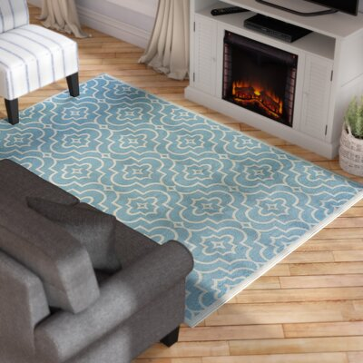 Bluffridge Turquoise Area Rug Rug Size: Rectangle 710 x 106