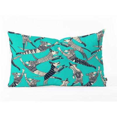 Sharon Turner Dog Party Oblong Indoor/Outdoor Lumbar Pillow