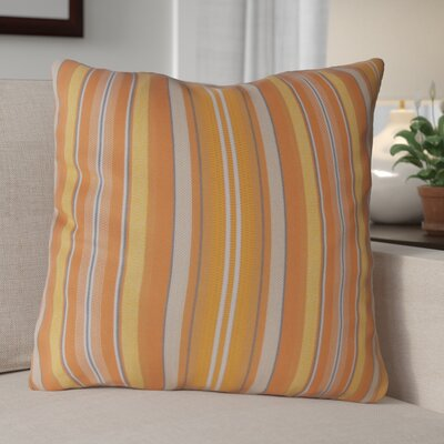 Escamilla Acrylic Throw Pillow Color: Orange Stripe, Size: 15 H x 15 W