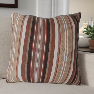 Escamilla Acrylic Throw Pillow Color: Maroon Stripe, Size: 15 H x 15 W