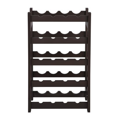 Houchin Wobble-Free 20 Bottle Floor Wine Rack