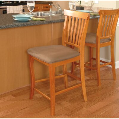 Newry 25.25 Bar Stool Upholstery Color: Cappuccino