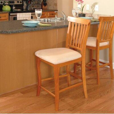 Newry 25.25 Bar Stool Upholstery Color: Oatmeal