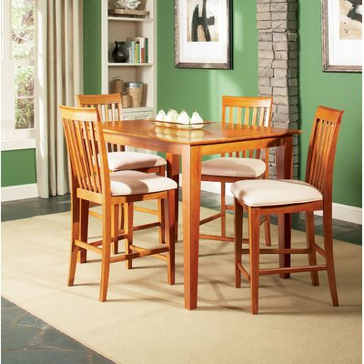 Bluffview 5 Piece Counter Height Dining Set Color: Caramel