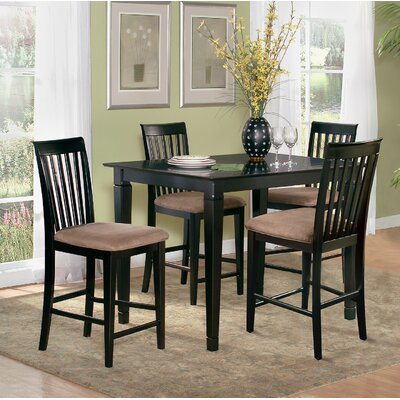 Bluffview 5 Piece Counter Height Dining Set Color: Espresso