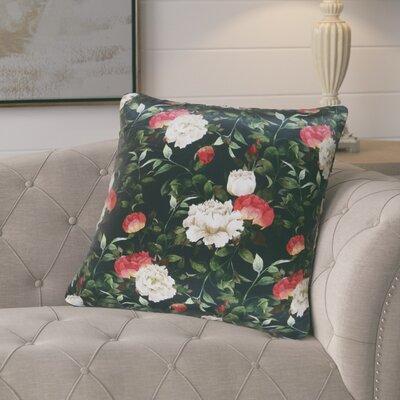 Halton Rose Pattern Printed Silk Cushion Throw Pillow