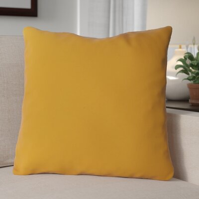 Escamilla Acrylic Throw Pillow Color: Yellow, Size: 15 H x 15 W