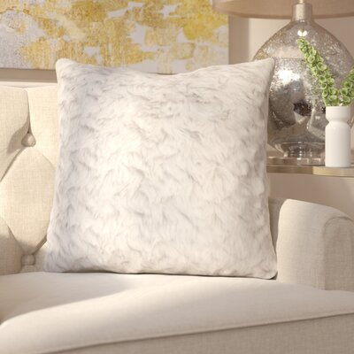 Henton Faux Fur Throw Pillow Color: Vapor