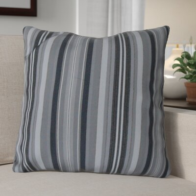 Escamilla Acrylic Throw Pillow Color: Gray Stripe, Size: 20 H x 20 W