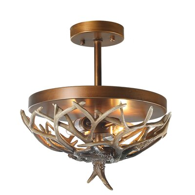 Vanwinkle 2-Light Semi Flush Mount