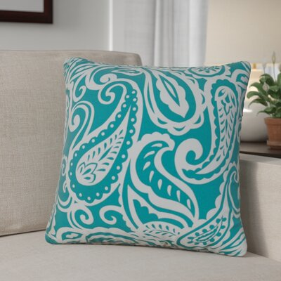 Hambledon Paisley Toss Indoor/Outdoor Throw Pillow Size: 17.5 x 17.5