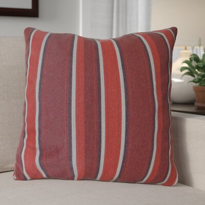 Escamilla Acrylic Throw Pillow Color: Red Stripe, Size: 15 H x 15 W