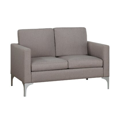 Suhununu Loveseat Upholstery: Brownish Gray