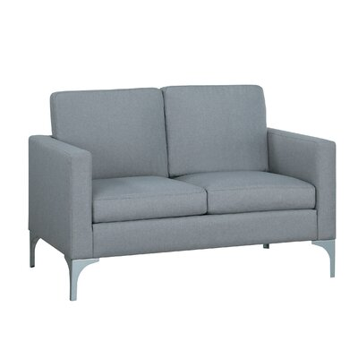 Suhununu Loveseat Upholstery: Light Gray