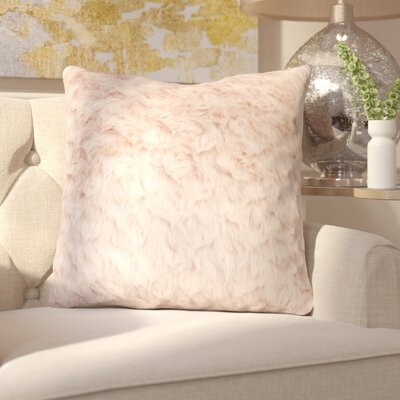 Henton Faux Fur Throw Pillow Color: Rose Smoke