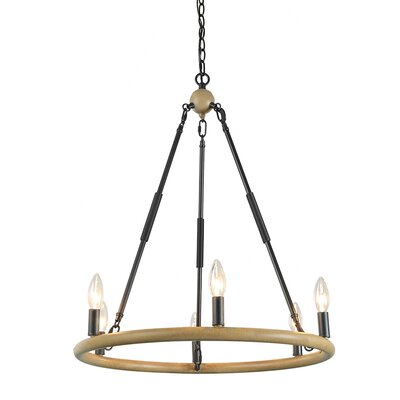 Varghese 6-Light Candle-Style chandelier