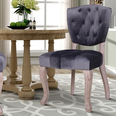Wachtel Upholstered Dining Chair Upholstery: Gray