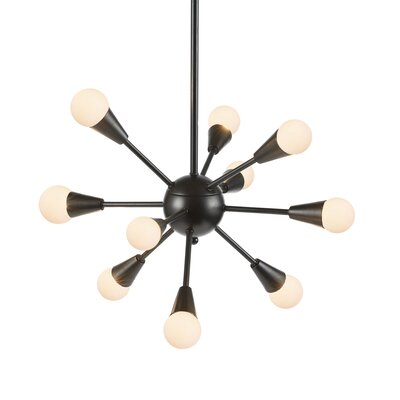Delavega 10-Light Sputnik Chandelier Finish: Black