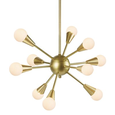 Delavega 10-Light Sputnik Chandelier Finish: Gold
