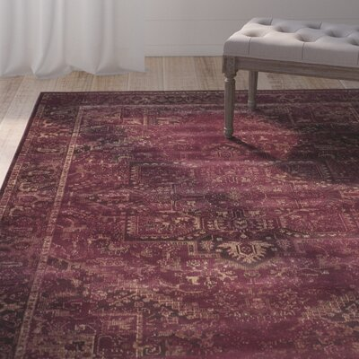 Meline Red Area Rug Rug Size: Rectangle 33 x 57