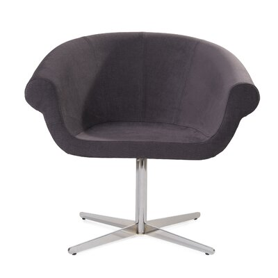 Mccary Swivel Barrel Chair Upholstery: Gray