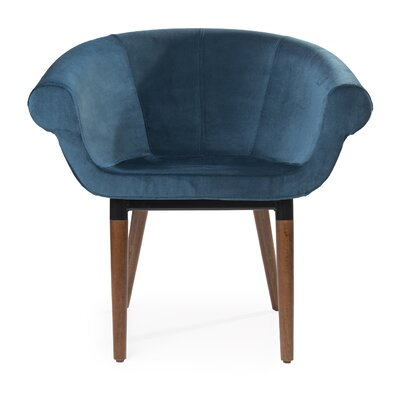 Mccary Swivel Barrel Chair Upholstery: Blue