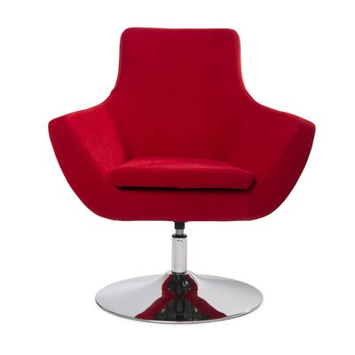 Mccaskill Swivel Lounge Chair Upholstery: Red