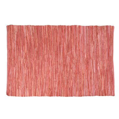 One-of-a-Kind Shea Hand-Woven Cotton Pink Area Rug