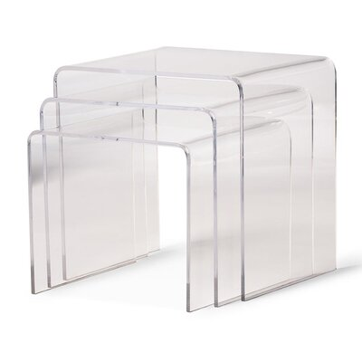Brierly Clear Acrylic 3 Piece Nesting Tables